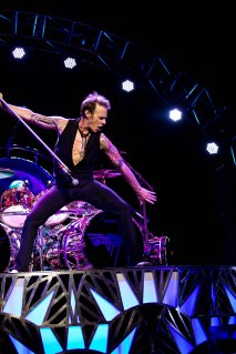 Van Halen in concert at the Ak Chin Pavilion in Phoenix, AZ on September 28, 2015.