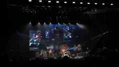 The Foo Fighters in concert at the Ak Chin Pavilion in Phoenix, AZ on September 25, 2015.