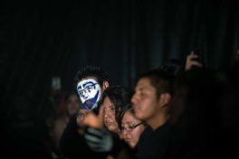 Fans at the Insane Clown Posse concert live at the PressRoom in Phoenix, AZ on October 20, 2015.