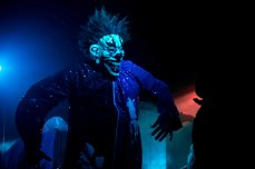 Clowns on stage at the Insane Clown Posse concert live at the PressRoom in Phoenix, AZ on October 20, 2015.