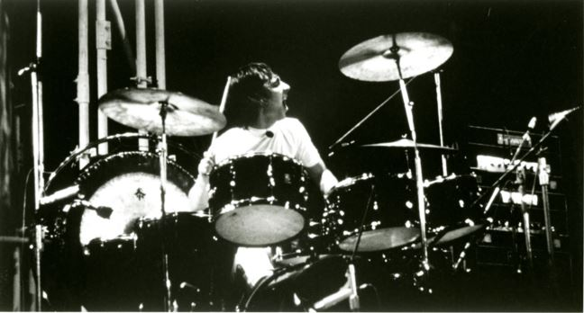 Keith Moon of The Who on October 21, 1976 in Toronto, Canada. Photo by Jim Marshall, LLC. (c) Sony Music